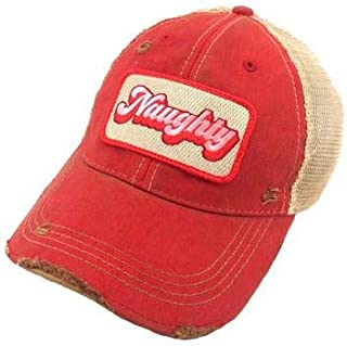 Judith March Naughty Baseball Hat - Red