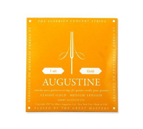 Augustine Cuerdas para Guitarra Clásica, Oro, Juego, Tensi