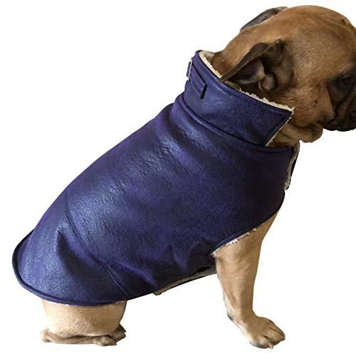 GODGETS Ropa para Perros Mascotas Capa para Gatos Cazadora para Perros Ropa Vellón Esquilador Chaleco para Perros Pequeños y Medianos Perros Grandes Cachorro de Gato,Púrpura,(38×68×48 CM)