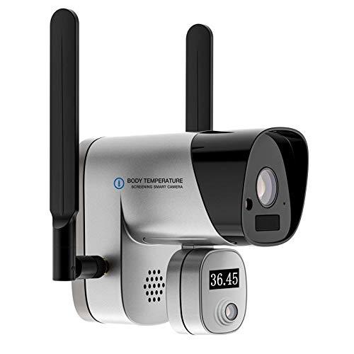 Termo cámara profesional | relieve de temperatura corporal | Cámara térmica termográfica IP WiFi Full HD | Termo escáner, funcionamiento local y remoto, audio, alarma, aplicación