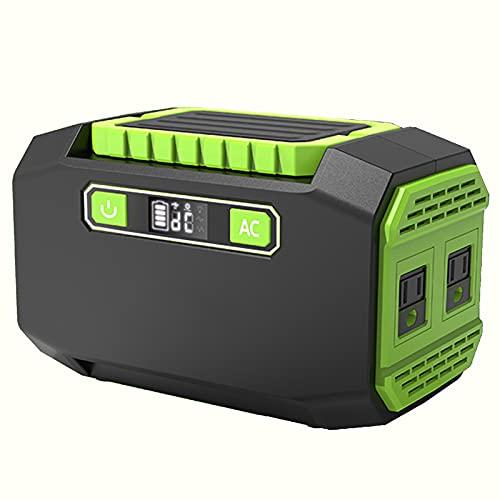 WMQ Generatore di Corrente Portatile,Generatore Solare da 150 W, 45000 mAh, Alimentatore Regolato da 9 a 12 V, Presa di Corrente alternata a Onda sinusoidale Pura da 220 V, Batteria al Litio di Rica