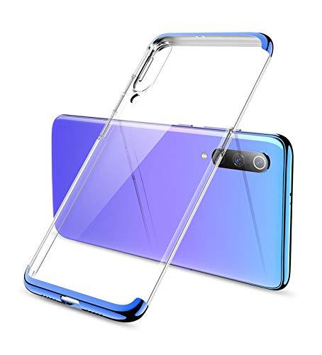 Coque Xiaomi 9 [Ultra Hybrid] Bumper Souple, Dos Rigide et Transparent, Protection - Air Cushion, Coque Compatible avec Xiaomi 9 (bleu)