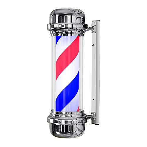 Led-wandlamp Barbers Pole woonkamer draaibaar verlicht rood blauw wit 71 cm zeer helder – lamp niet normaal