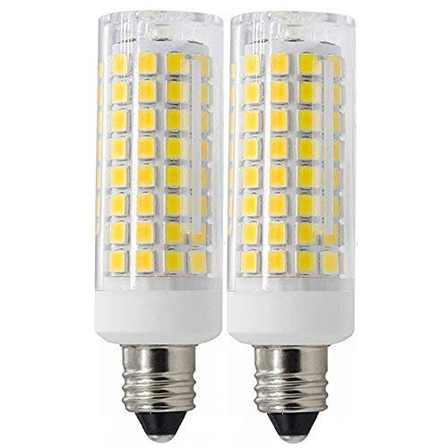 All-New-(102LEDs) E11 Led Bulbs, 7.5 Watt, 100W Halogen Bulbs Replacement,750 lumens, JD T3/T4 E11 Mini Candelabra Base 110V 120V 130 Voltage Input, CRI>85, Pack of 2 (Daylight 6000k)