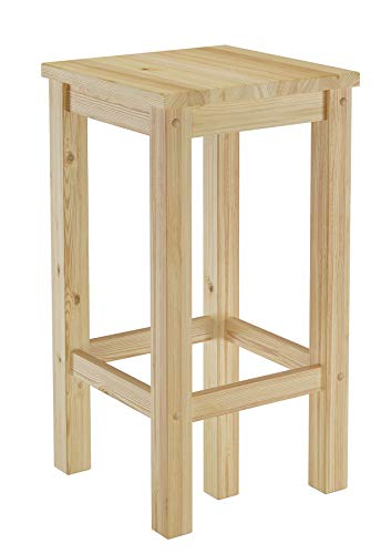 Erst-Holz® Barhocker Kiefer Massivholz Tresenhocker wählbar in 60cm oder 80cm 60.71-44-45, Länge:60 cm