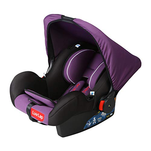 LuvLap 4-in-1 Infant/Baby Car Seat & Carry Cot with Canopy, 0 to 15 Months (Purple)
