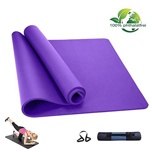 LIUBOLI Pilates mat/meditatiemat-Non-dikte 10 mm antislip extra grote yogamat ideaal voor yogis -185 cm x 80 cm