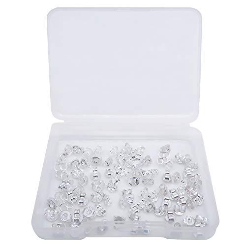 TOAOB 30 Paar 925 Sterling Silber Ohrring Stopper Ohrstecker Verschluss Drei Größen Schmetterling Ohrstopper für Schmuckherstellung