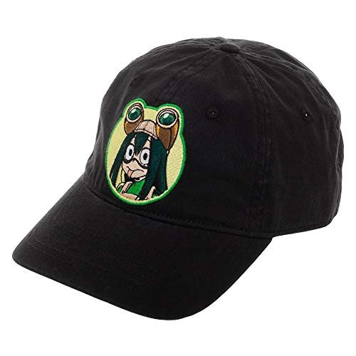 Bioworld Mens My Hero Academia Froppy Hat Black My Hero Academia Snapback Hat