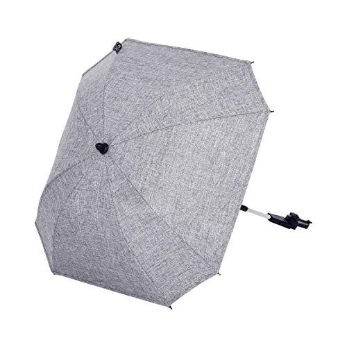 ABC Design Universal Sonnenschirm Sunny – für Kinderwagen und Buggy – UV-Schutz 50+ – Universalhalterung für Rund- und Ovalrohre – Farbe: graphite grey