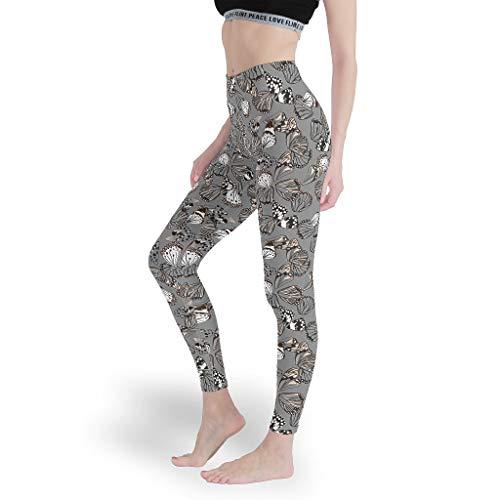 Vrnceit Insekt Vlinder Meisjes Regular Leggings hoge taille Yoga Panty Yoga Design Capris Tights voor yoga White XL
