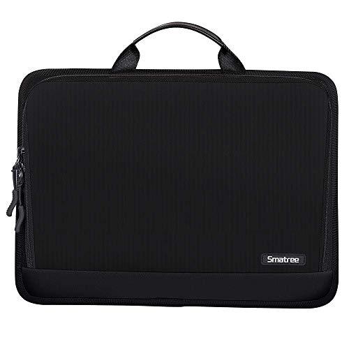 Smatree Laptop Tragetasche für 13,3 Zoll Laptop/iPad Pro/iPad Air/iPad Mini/Surface Go/Surface Pro Schutzhülle Handtasche, Schwarz (13,3 Zoll MacBook schwarz Aktentasche)