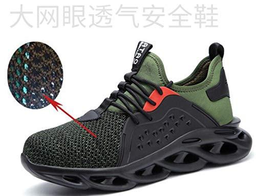 ZYLL Zapatos indestructibles Calzado Hombre de Trabajo de Se