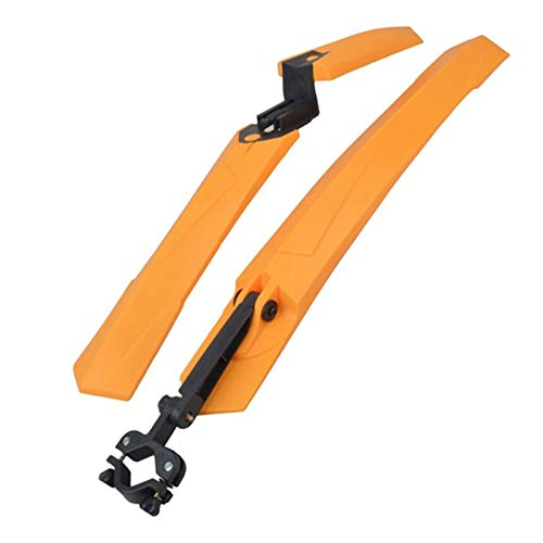 HUANGMG Guardabarros de Bicicleta 1 par 24'-29' Fit para MTB Bicycle Mud Guard Tire Fender Front Front Plastic Plastic Fender Set (Color : Orange)