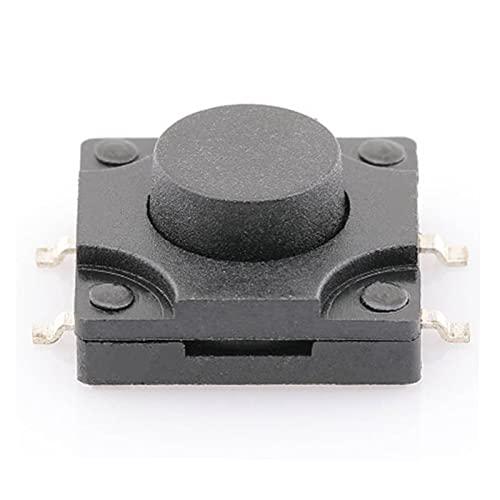Mjwlgs Micro Interruptor 10pcs 12 * 12 * 5 mm Interruptor de Tacto Interruptor pulsador 12V Cobre 4pin Dip Micro Botón de Interruptor Impermeable para Juguetes de TV Botón de Uso doméstico