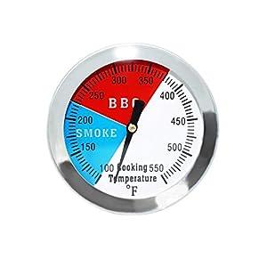 GFTIME 7,6cmTermómetros para Barbacoas y Ahumadores BBQ Termómetro Medidor de Temperatura Piezas de Repuesto Termómetro…