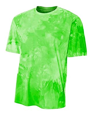 Authentic Sports Shop Lime Bright Green Men's Adult XL Cloud Dye Tech Moisture Wicking Cool Base Tee