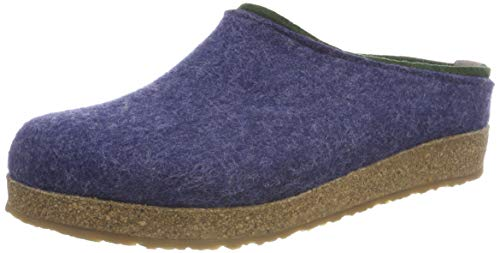 HAFLINGER Unisex-Erwachsene Kris Grizzly Pantoffeln, Blau (Jeans 72), 39 EU