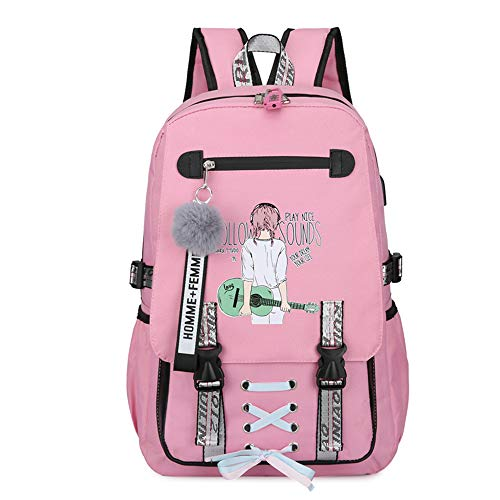HBRE School Backpack,With Usb Charging Port,Waterproof Anti-Theft Backpack,15 Inch Large School College Bag,For Women/Girls/Travel/Business,2