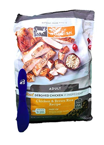 SIMPLY NOURISH Adult Dry Cat Food, Chicken and Brown Rice 7 Pounds and Especiales Cosas Mixing Spatula