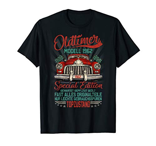 Herren 58. Geburtstag Shirt Jahrgang 1962 Vintage Oldtimer Geschenk T-Shirt