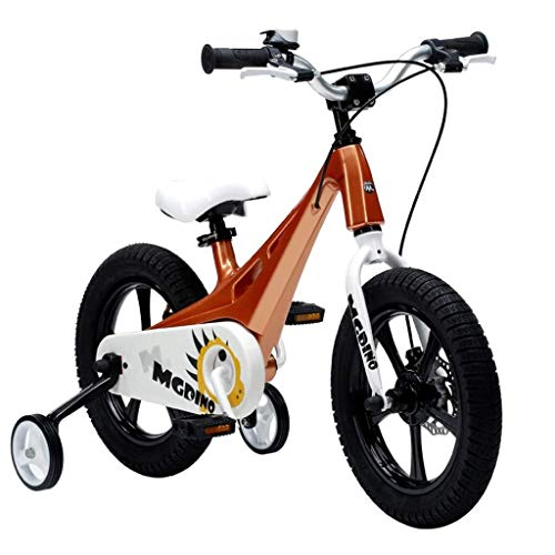 Y-LKUN Bicycle Bike Children's Bicycle 2-10 Year Old Pedal Balancer Boy and Girl Student Bicycle Outdoor Mountain Bike Portable Cycling Give Children The Best Gift (Color : Gold, Size : 14IN)