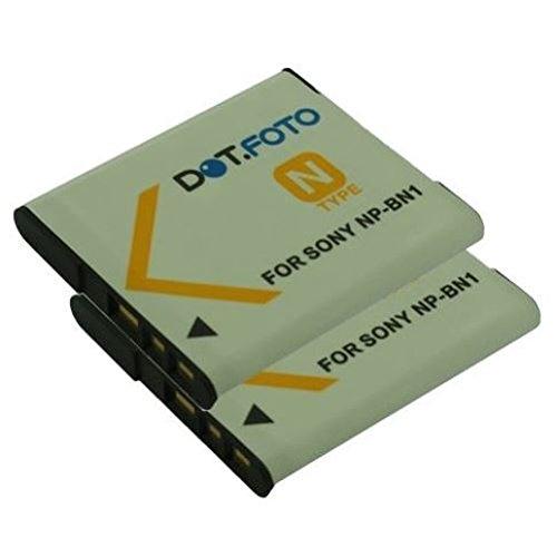 2x Dot.Foto Qualitätsakku für Sony NP-BN,NP-BN1 mit InfoChip - 3,7v / 630mAh - Garantie 2 Jahre [Siehe Beschreibung für die Kompatibilität]