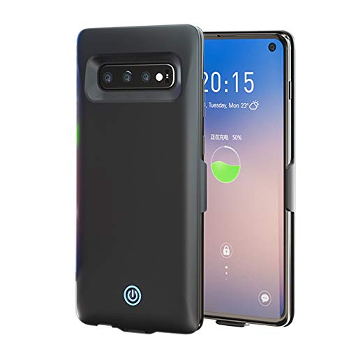 Funrose Galaxy S10/S10+/S10e Batterij Oplader Case, Externe 7000mAh Draagbare USB Power Bank Batterij Opladen Back Pack voor Samsung Galaxy S10e/S10+/S10 S10 Zwart