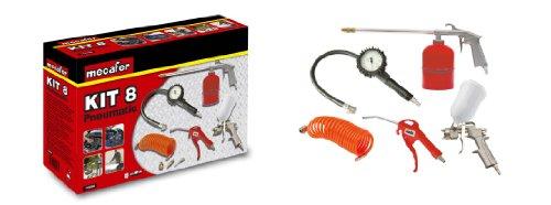 Mecafer 150098 - Kit per compressore, 8 accessori, a connessione universale
