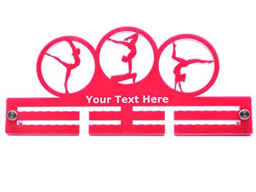 OriginDesigned Colgador para medallas de Gimnasia Personalizable de 29 cm, Color Rosa
