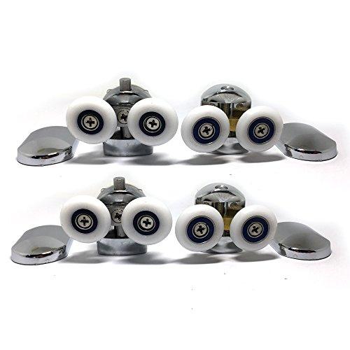 Juego de 4 ruedas para mampara de ducha (cromadas, para cristales de 4-6 mm)
