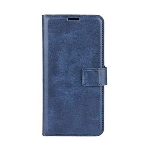TOPOFU Hülle für Motorola Moto G30/G10, Premium Leder Brieftasche Handytasche Schutzhülle, Folio Flip Wallet Cover Handyhülle mit Kartenfach Standfunktion (Blau)