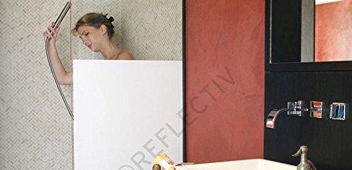 Film adhésif décoratif fenêtre PVC opaque et occultant blanc, INT 253, ne laisse pas passer la lumière, plusieurs tailles disponibles, application facile (Largeur 75 cm x Longueur 3.50 m)