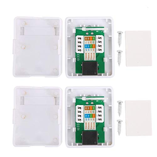 Caja de montaje en superficie, 2 piezas Caja de montaje en superficie RJ45 Cat6 Cajas de conexiones de red de información de escritorio de un solo puerto, tornillos incorporados y larga vida útil