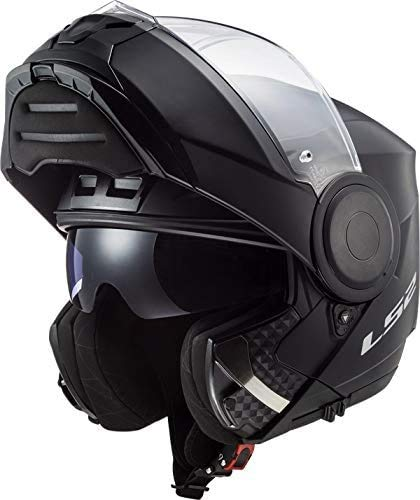 LS2, casco moto modulare Scope negro mate, S