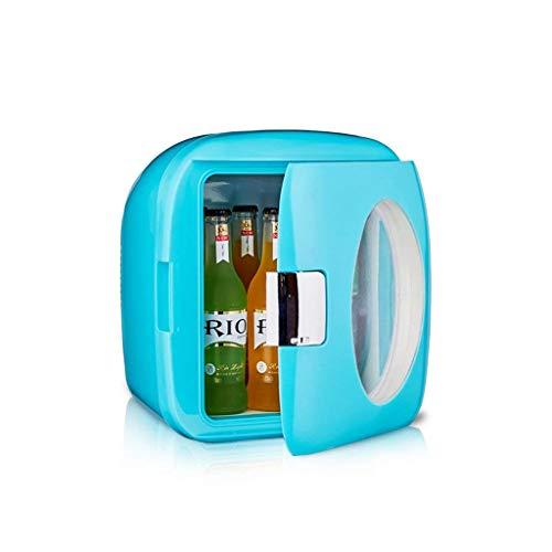 OutingStarcase 9L coche dual mini Inicio Mini Mini refrigerador del dormitorio principal de coches de doble uso caliente y frío (Color: Azul)