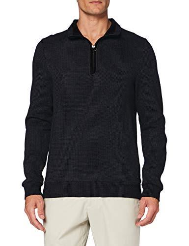 Pierre Cardin Sweat-Shirt Minimal Check Sudadera, Gris, S para Hombre