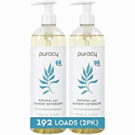 Puracy Liquid Laundry Detergent, 192 Loads, Hypoallergenic, Natural Stain Enzymes, Free & Clear, (2-Pack)