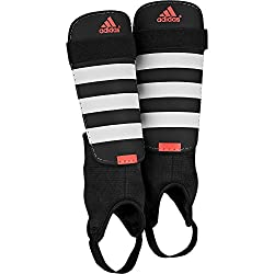adidas Everclub Shinguards, Black / White / Solar Red, M