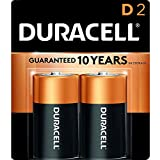 Duracell - CopperTop D Alkaline Batteries with recloseable package - long lasting, all-purpose D battery for household and business - 2 count