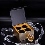 KANARS Whiskey Gläser Set, Bleifrei Kristallgläser, Whisky Glas, Schöne Geschenk Box, 4-teiliges, 300ml, Hochwertig - 7