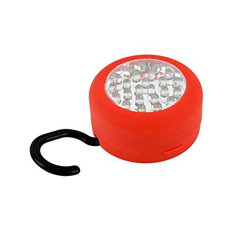 Generic Lampe torche de travail ronde magnétique 24 LED avec crochet intégral et aimant, Lot de 3