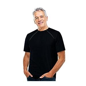 Comfy Chemo CHEMOWEAR : Men's Short Sleeve Chemotherapy Port Zipper Shirt