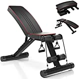 YOLEO Adjustable Weight Bench, 330lbs 7 Level Foldable Workout Bench Incline/Decline Utility Exercise Bench Ab Bench for Home Training Weight lifting Sit up
