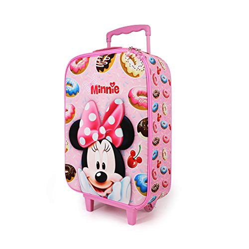 Karactermania Minnie Mouse Yummy - Maleta Trolley Soft 3D, Rosa