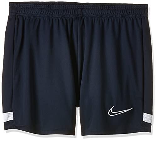 Nike Damen Women's Academy 21 Shorts, Obsidian/White/White/White, L