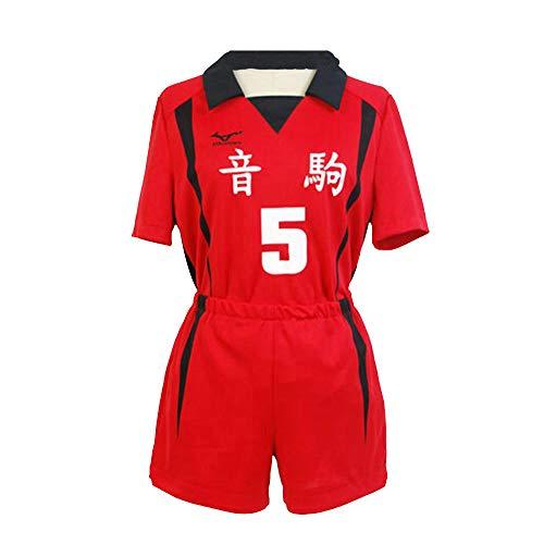 Tuboshu Uniforme de Escuela Secundaria Haikyuu Nekoma Tetsurou Kuroo Kozume Kenma Jersey Conjunto de Disfraz de Cosplay Ropa Deportiva de Equipo de Voleibol