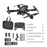 Zinniaya R8 Drone Se Pliant Professionnel Flux aérien d'avions à Quatre Axes de HD 4K Professionnels Suivant Le Double Avion de caméra avec la Batterie 3