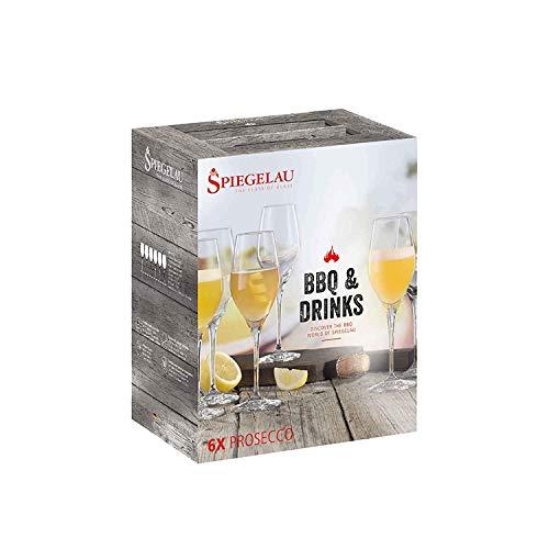 Spiegelau Set de 6 Copas BBQ & Bebidas Prosecco Juego