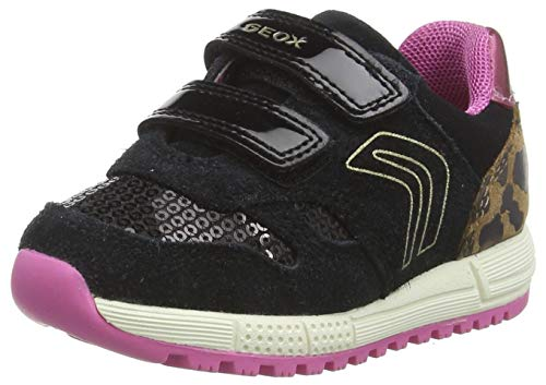 Geox Baby-Mädchen B ALBEN Girl A Sneaker, (Black/Fuchsia), 25 EU